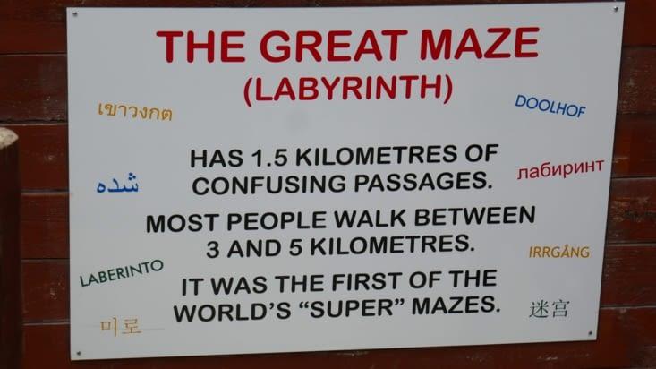 Un vrai labyrinthe en 3 D dont nous n'arriverons à sortir qu'au bout de 90 minutes