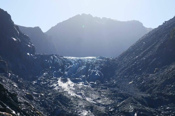 Enfin le temps s'améliore pour aller voir le Fox glacier