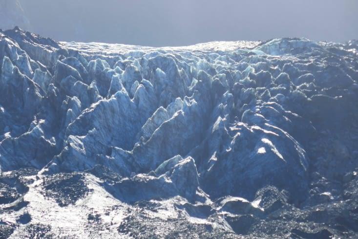 Le début du glacier qui recule à vitesse grand V