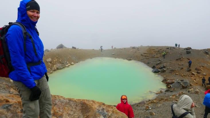 En maillots de bain autour du lac Emeraude....