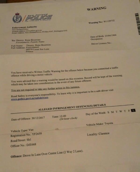 Voici donc le courrier reçu