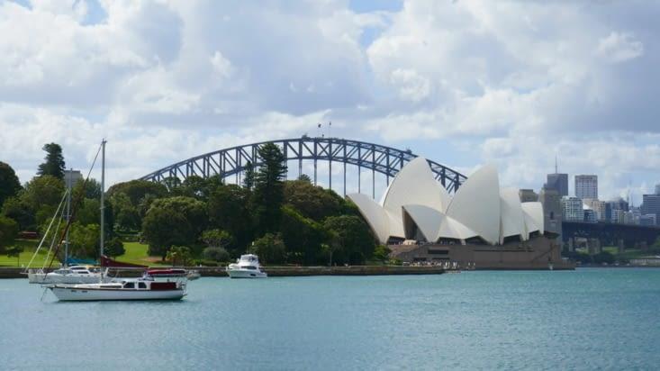 Dans la baie de Sydney