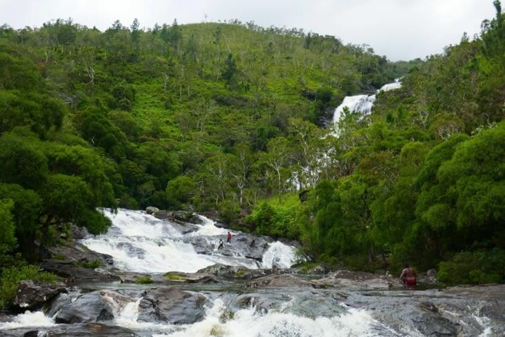 La cascade bidule dans laquelle nous avons été nous baigner
