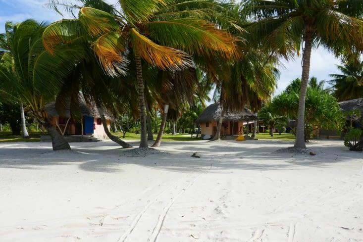Nos bungalows sur la plage, avec enfin le beau temps revenu