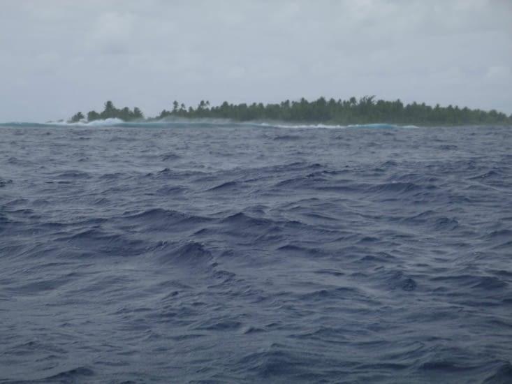 La mer déchainée vu de notre petit bateau