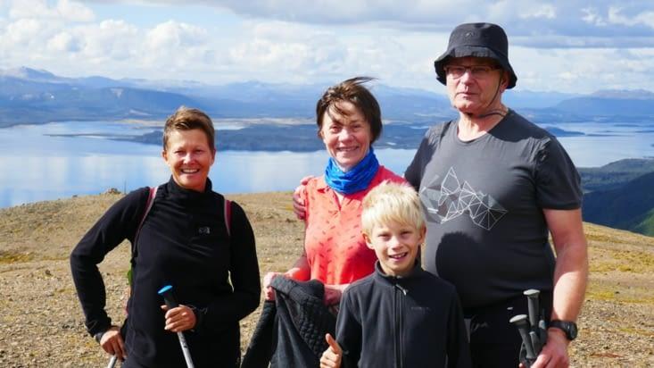 Avec Luc et Dominique, 2 randonneurs rencontrés sur le Ferry