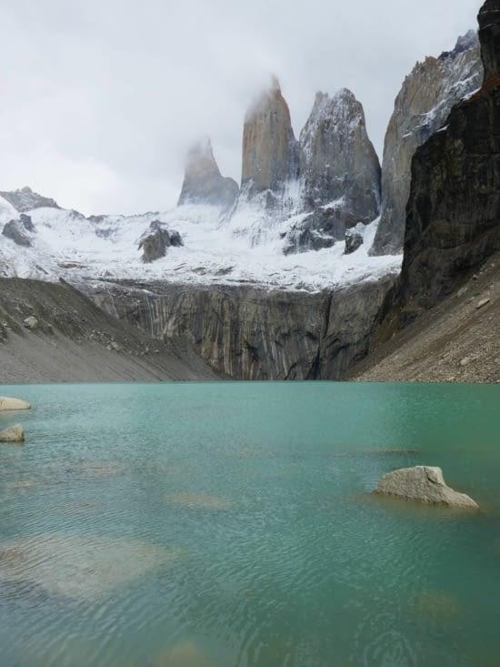 Voici les 3 tours de granit qui ont données leur nom au parc : Torres del Paine