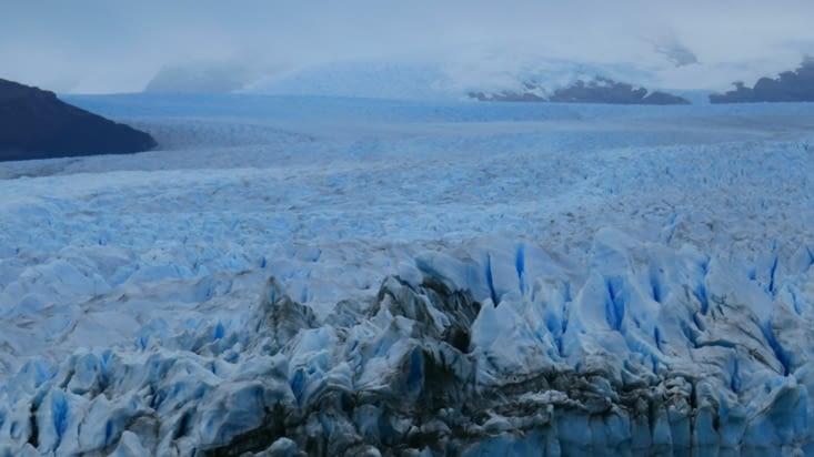 Un petit zoom sur le haut du glacier
