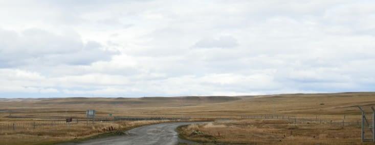 les paysages de Pampa sur la route