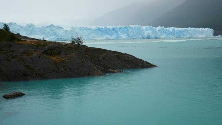 le glacier en arrivant, déjà superbe