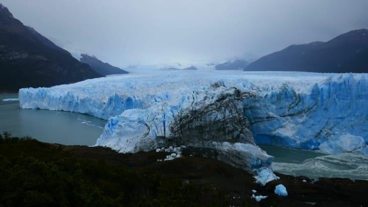 L'arche: le dernier point de contact entre le glacier et la rive opposée