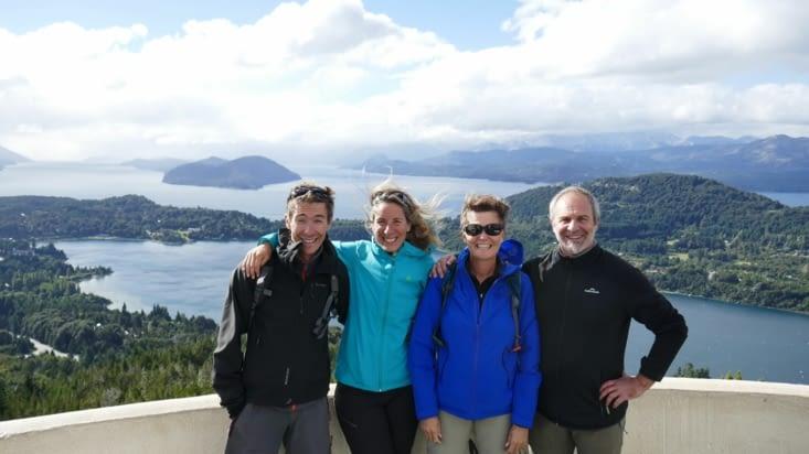 superbe vue du Cerro Campanario avec nos amis Laeticia et Cedric