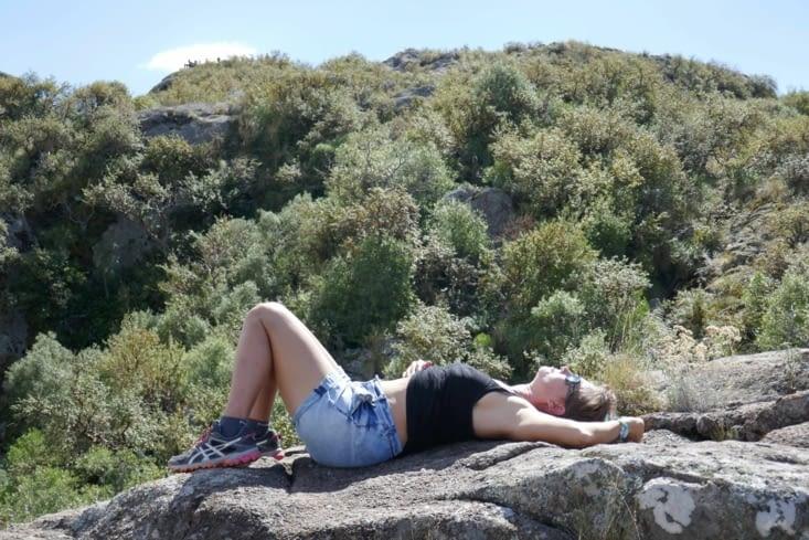 Heureusement, on a vu une panthère lassive sur son rocher... Avant....