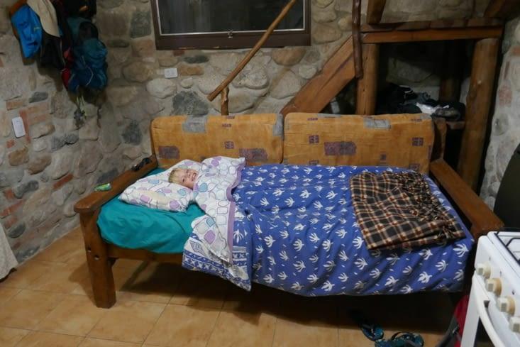 Le lit du petit Ingalls...