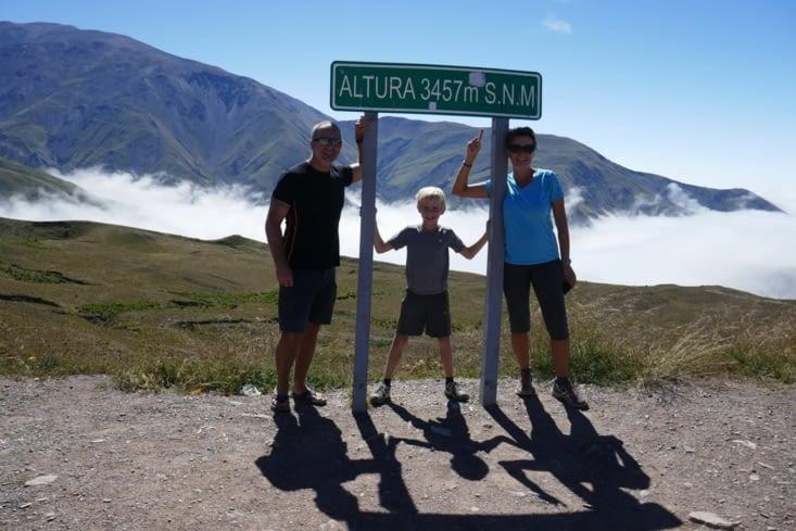 Altitude 3457 mètres.  Nous ferons encore mieux plus tard...