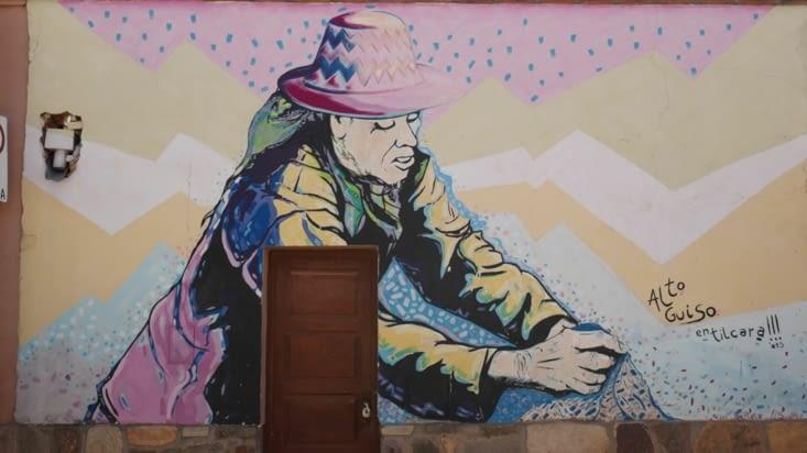 Une oeuvre de street art