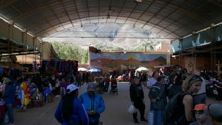 Le marché couvert où nous nous approvisionnons en empanadas et en fruits/légumes