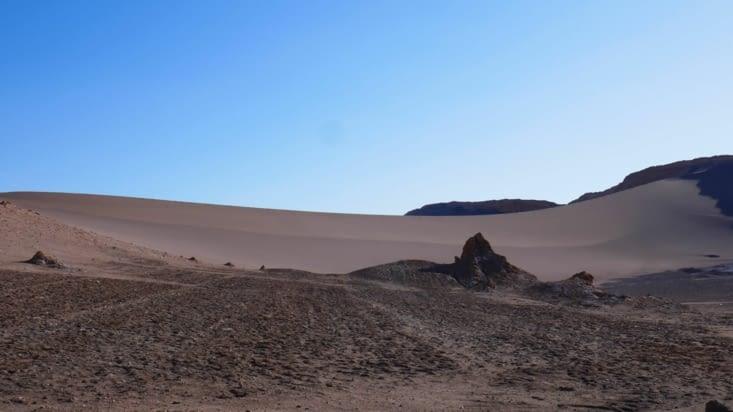 Une immense dune d'où nous assisterons au coucher du soleil