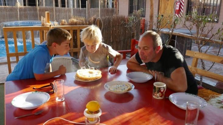 Célébration en commun des anniversaires des enfants et de votre serviteur
