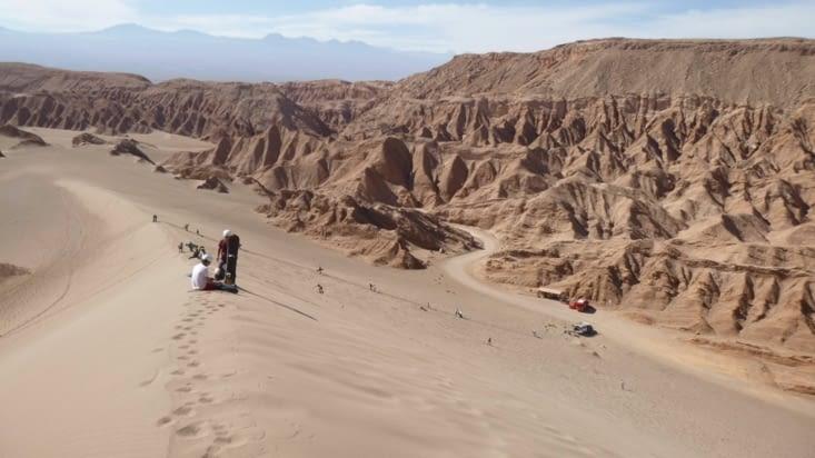 La dune que nous dévalerons bientôt....
