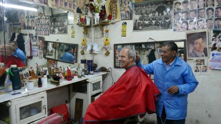 Mon vieux coiffeur qui m'a fait très peur