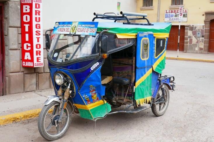 On retrouve les mêmes tuktuks qu'en Asie