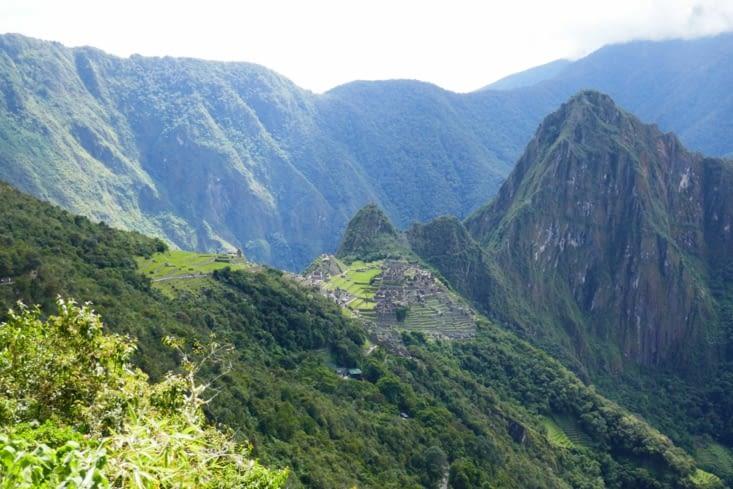 Vue depuis le sentier de l'Inti Punku (porte du soleil)