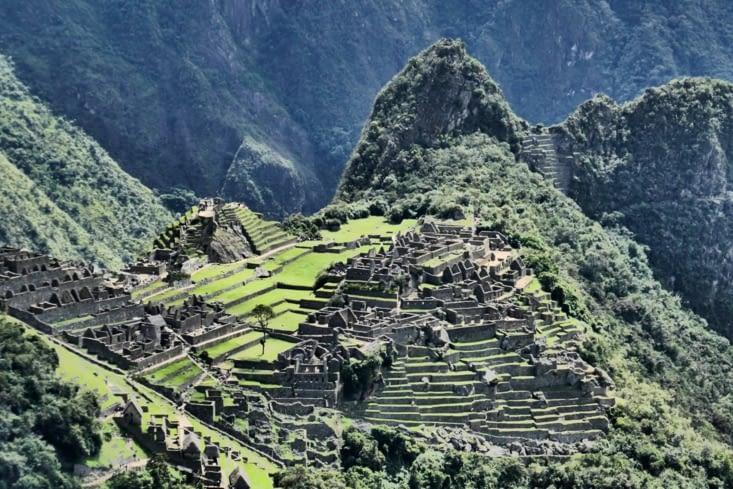 Zoom sur la cité et le wayna Picchu
