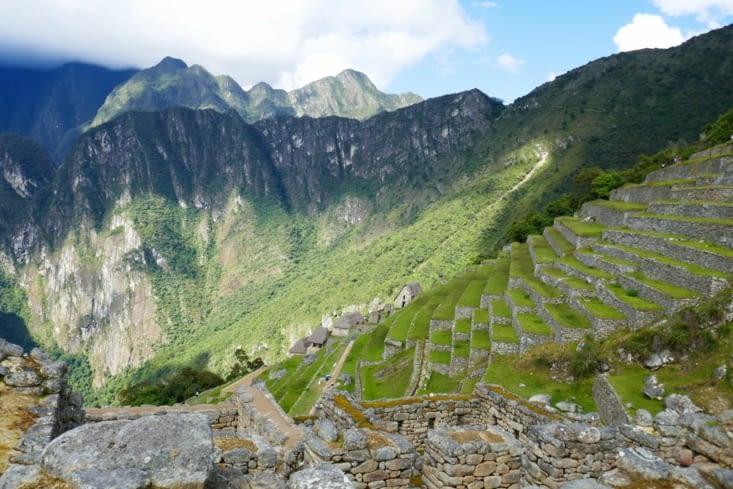Les terrasses du secteur agricole: la terre provient de la vallée. ...!