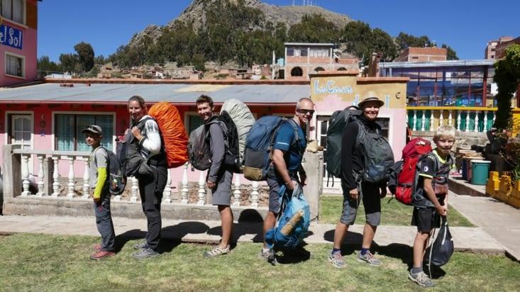C'est l'heure de la séparation: Nous vers la Bolivie et les amis vers le Pérou ....