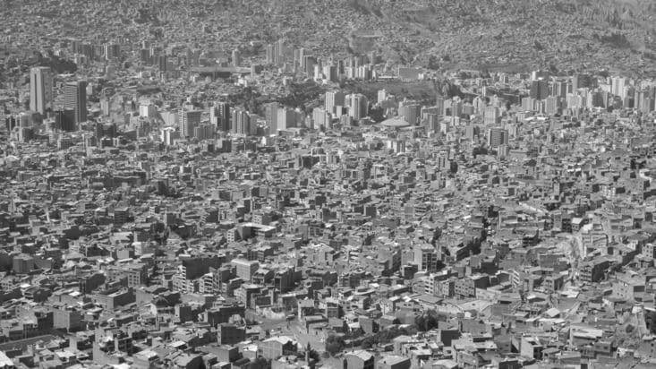 La ville est très dense
