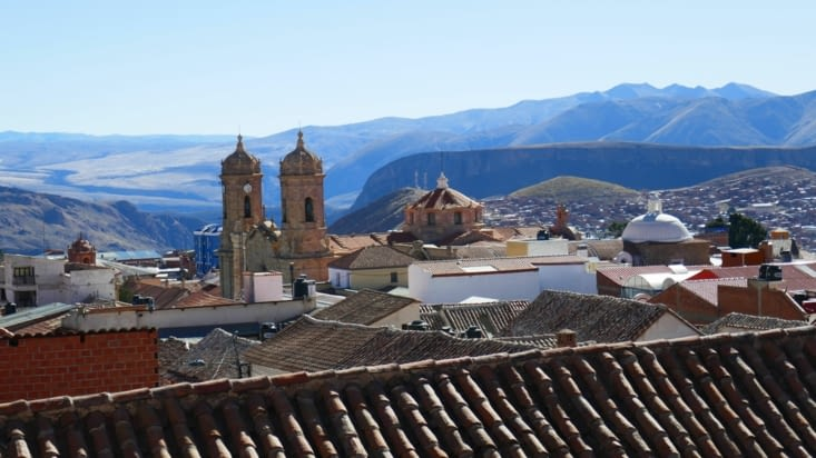 les toits de Potosi, vue de notre terrasse