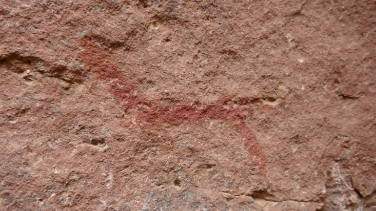 Une peinture rupestre qui pourrait être un lama ...
