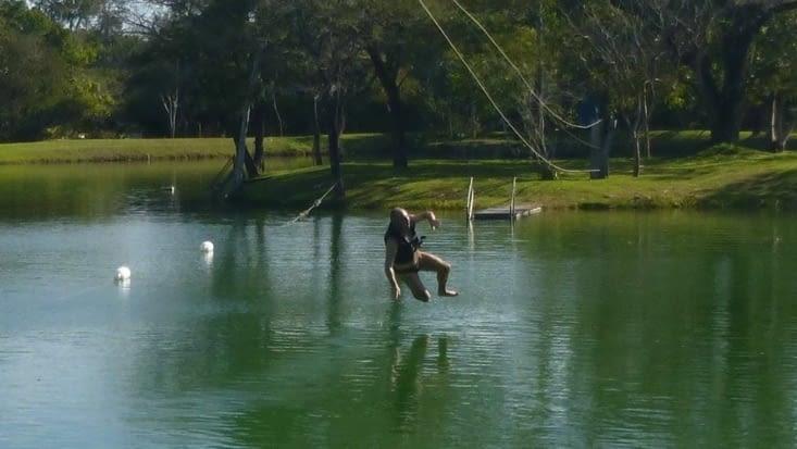 Comme dans Matrix, me voici à courir sur l'eau en négociant un virage ....