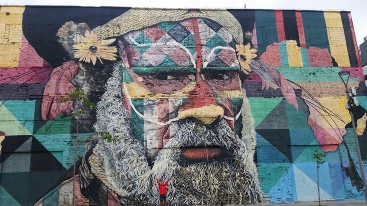 Un aborigène d'Australie : l'Océanie