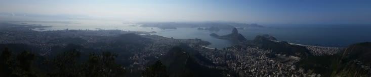Grand panorama sur la baie de Rio