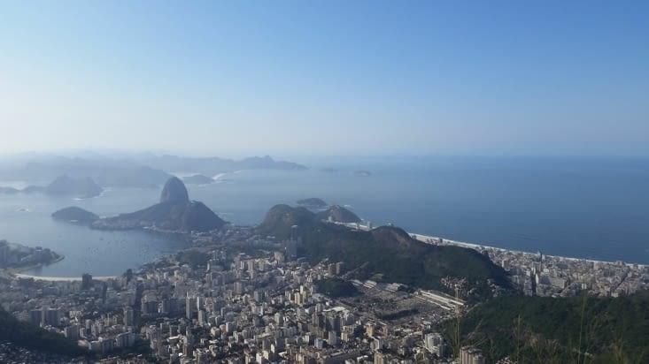 Le pain de sucre et la plage de Copacabana à sa droite