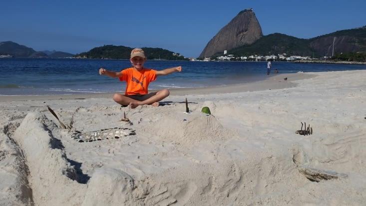 Le roi du château de sable !