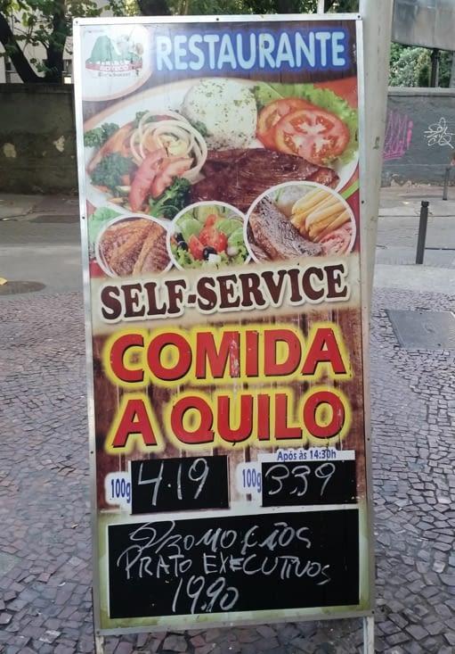 On trouve pas mal de restaurants dont le prix du repas est fonction du  poids