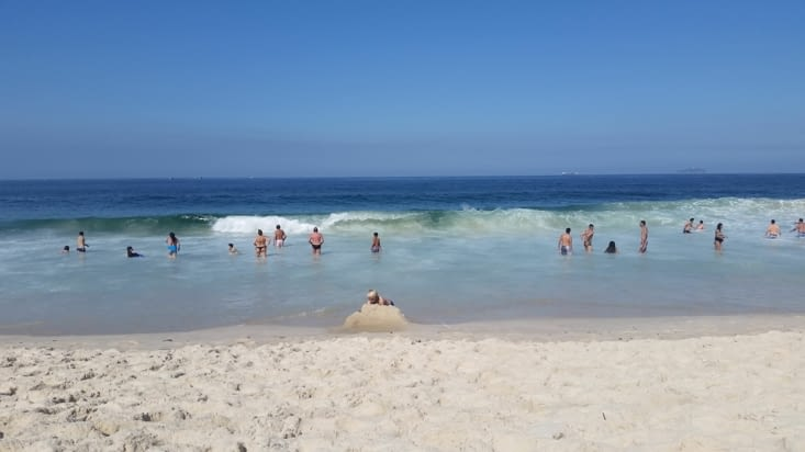 Nous revoici revenus à COPACABANA, la plage mythique