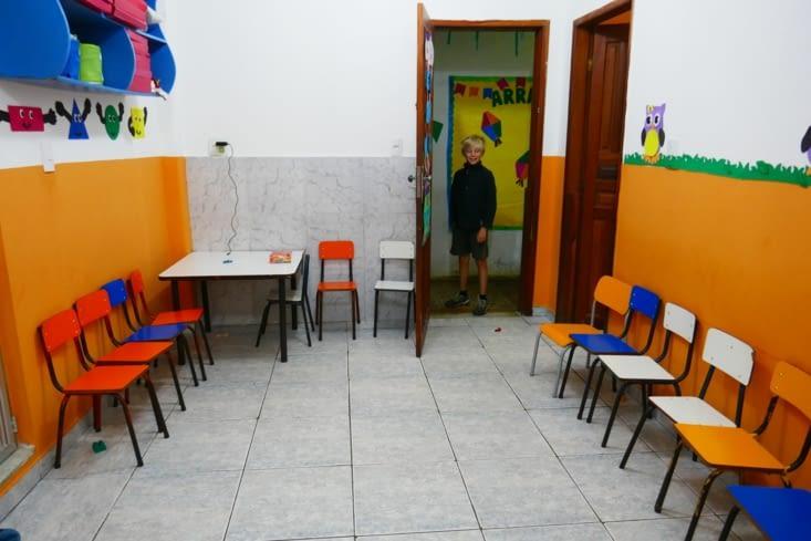 Voici une classe. Tu as la nostalgie de l'école Maël ?