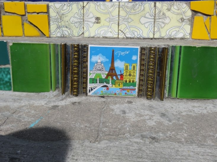 Escalier Selarón - Mosaique de Paris