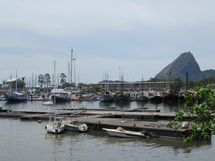 Port de Flamengo, au loin le Pain de sucre