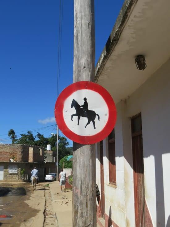 Circulation interdite aux chevaux
