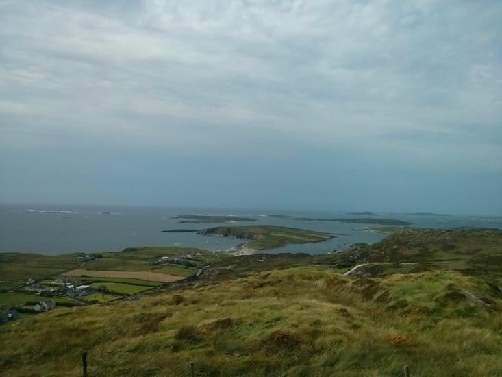 Ah là, c'est l'Atlantique (point de vue de la Sky Road)