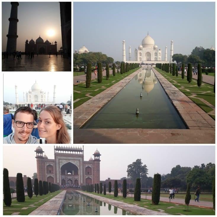 Ce majestueux Taj Mahal à Agra