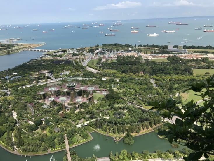 Une vue de la baie de Singapour