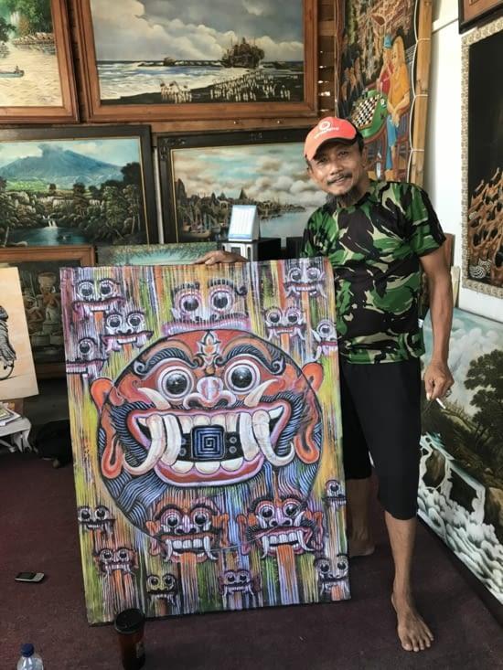 Ze coup de coeur ! un Barong souriant avec son peintre