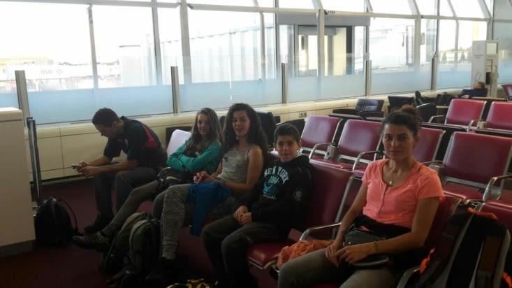 Attente à l'aéroport