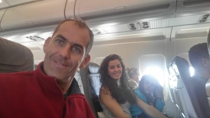 Dans l'avion direction Denver